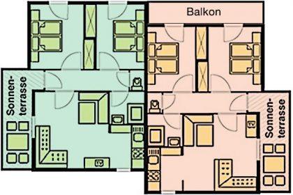 Skizze Apartmenthaus Agatha
